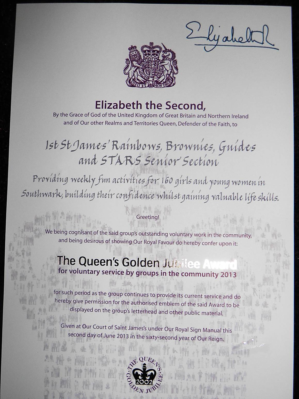 Local Girlguiding Group Receives Queen S Award For
