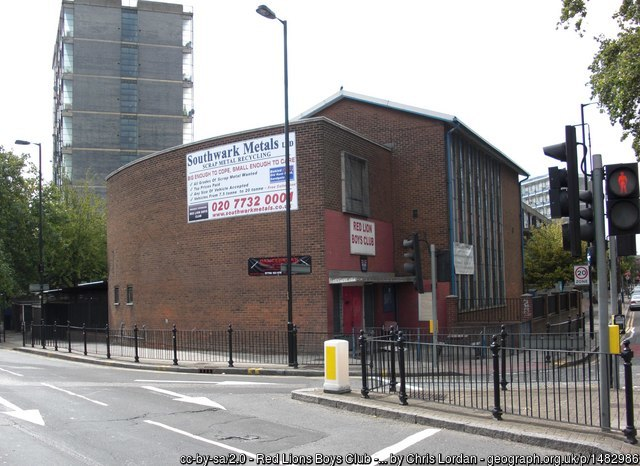 Red Lion Boys' Club: council housing proposed